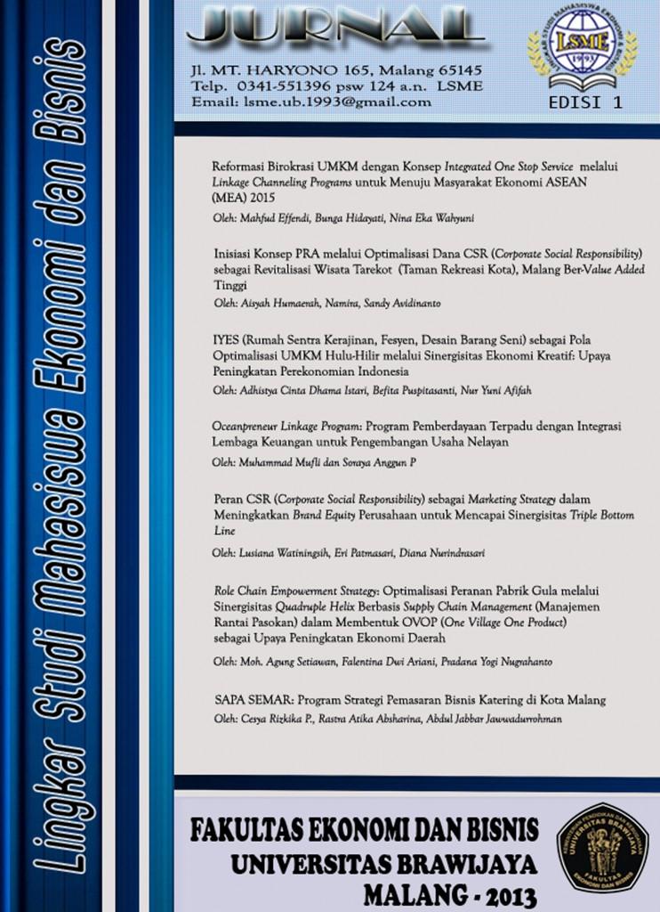 Cover Jurnal Ilmiah LSME